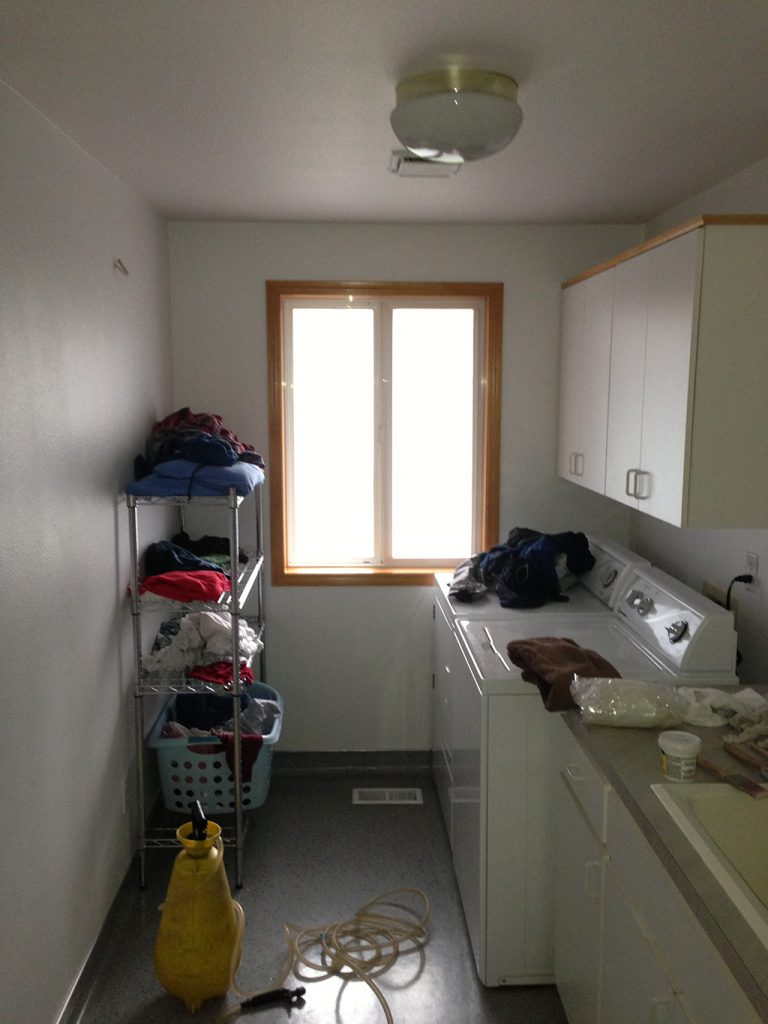 Window tinting in laundry room