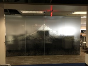 Mountain Window Film Graphic by Pacific Tint Portland OR